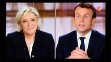 Wer wird französischer Präsident? Marine Le Pen im Duell mit Emmanuel Macron