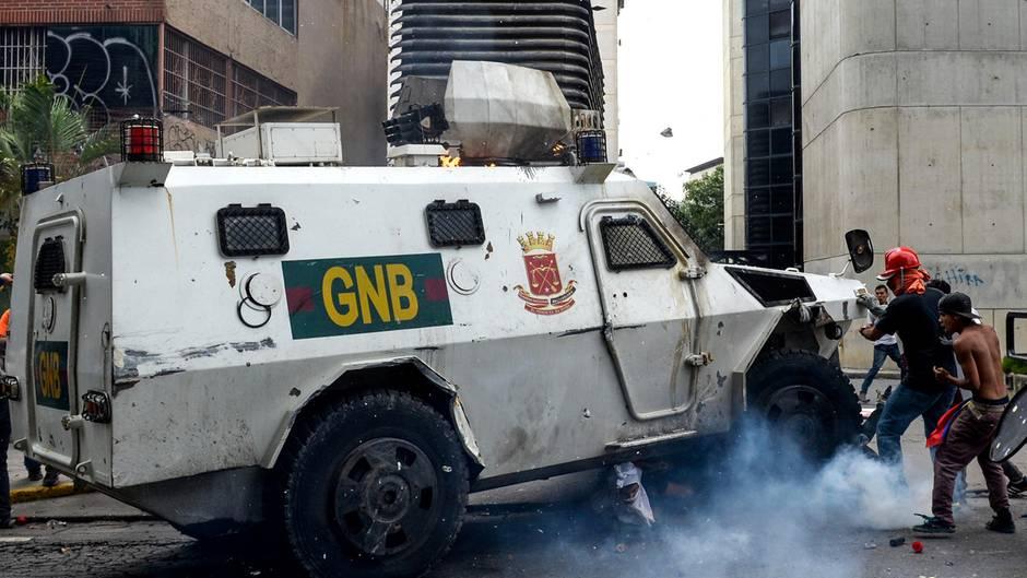 Panzerwagen in Caracas