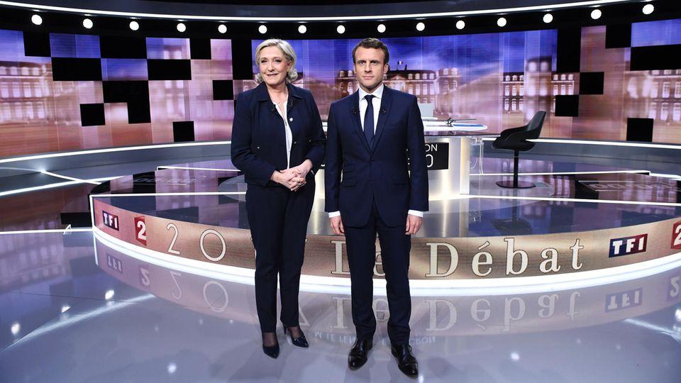 Schön anzuschauen war das TV-Duell zwischen Marine Le Pen und Emmanuel Macron nicht