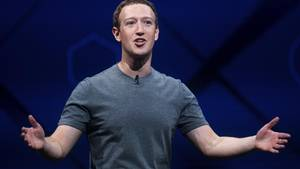 Facebook-Chef Mark Zuckerberg spricht auf der Entwicklerkonferenz