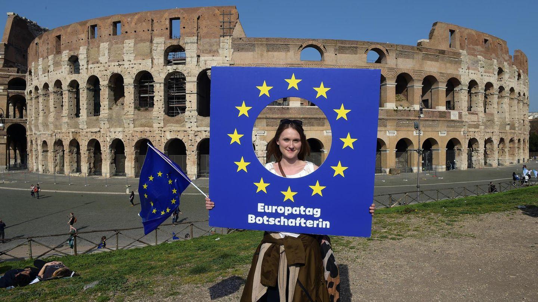 In Rom fand im März eine Pro-EU-Demonstration statt