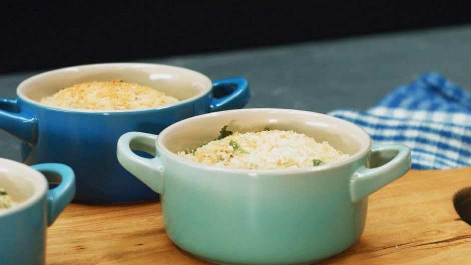 Käse, Käse, Käse: Deftiges Gnocchi-Käse-Gratin mit Pancetta