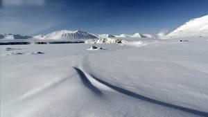 Arktis Schneelandschaft