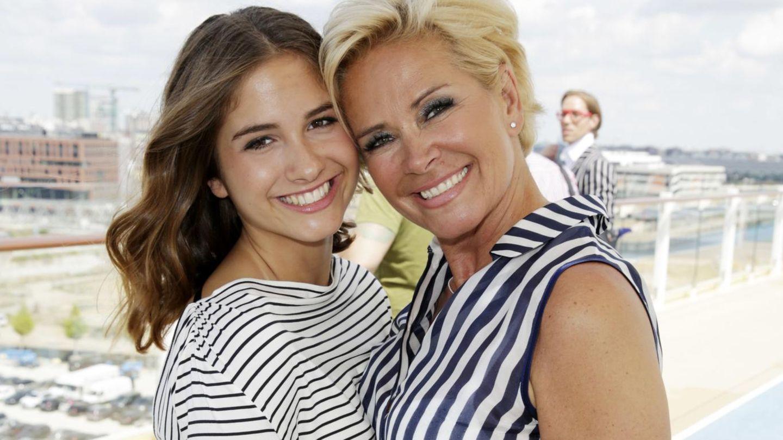 Lucia Strunz mit ihrer Mutter Claudia Effenberg