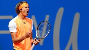 Alexander Zverev bejubelt seinen Sieg beim Turnier in München
