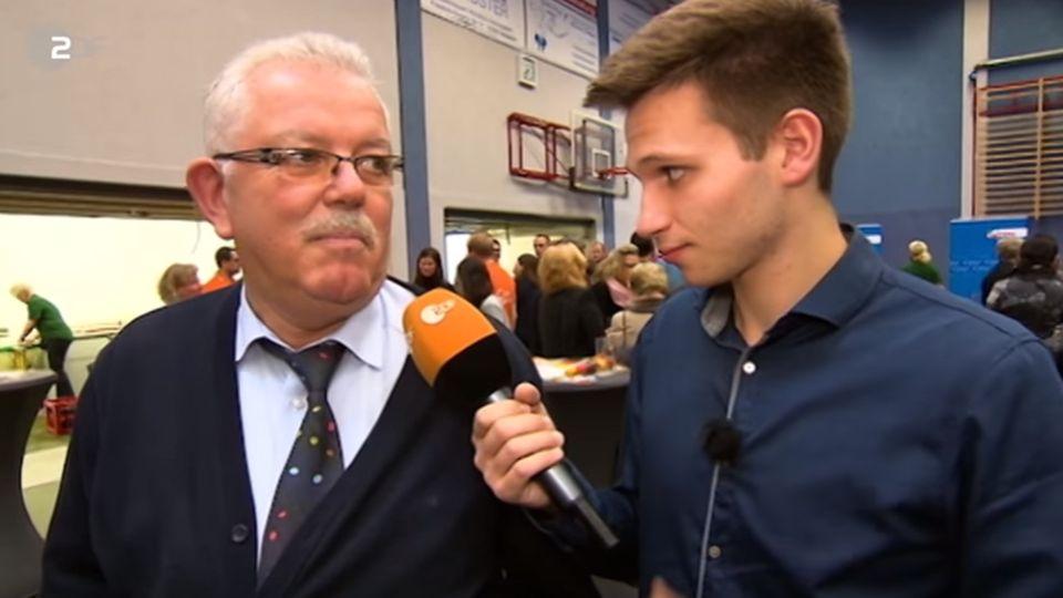 Fabian Köster im Einsatz auf einer Wahlkampfveranstaltung der CDU in Nordrhein-Westfalen