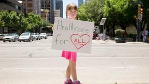 Protest gegen die Abschaffung von Obamacare