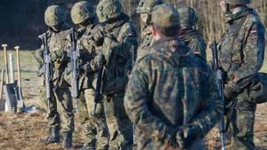 Bundeswehrsoldaten in der Ausbildung