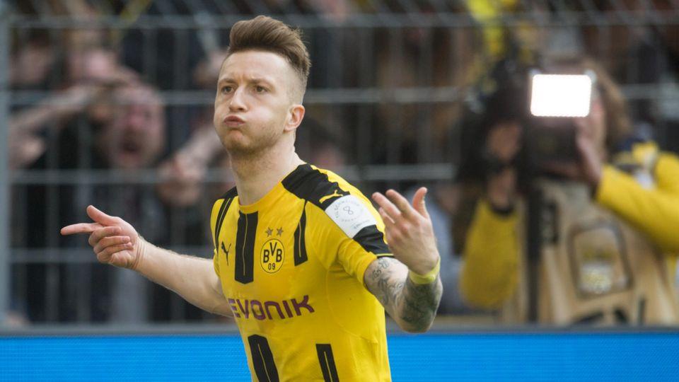 Marco Reus jubelt über sein 1:0 für den BVB gegen Hoffenheim
