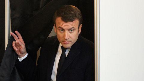 Macron laut erster Prognose vorn