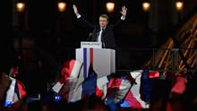 Emmanuel Macron feiert seinen Sieg