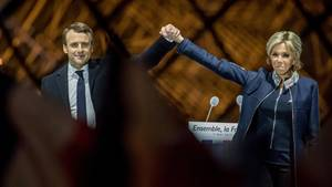 Emmanuel Macron und seine Frau