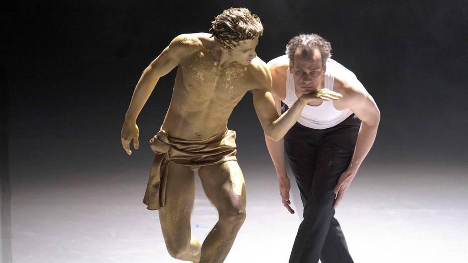 """David Moore (l.) und Matthias Klink Proben für """"Tod in Venedig"""""""