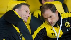 """Wie lange hält die """"echte Liebe"""" noch? Zwischen BVB-Geschäftsführer Hans-Joachim Watzke (l.) und -Trainer Thomas Tuchel (Archivbild) gibt es Dissonanzen"""