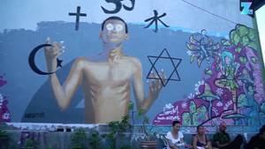 Graffiti auf Bali