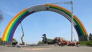 Denkmal der Völkerfreundschaft in Kiew