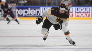 Eishockey-Spieler Tobias Rieder in einem WM-Spiel