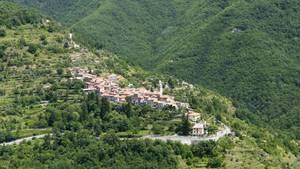 Mediterranes Dorf in Italien
