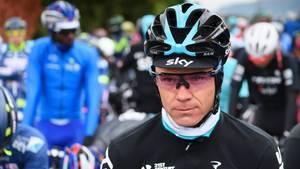 Radprofi Chris Froome vor einem Rennen im April 2017