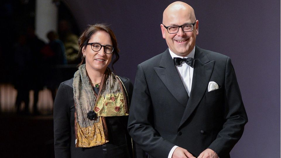 Schleswig-Holstein's Prime Minister Torsten Albig with his new partner Bärbel Boy