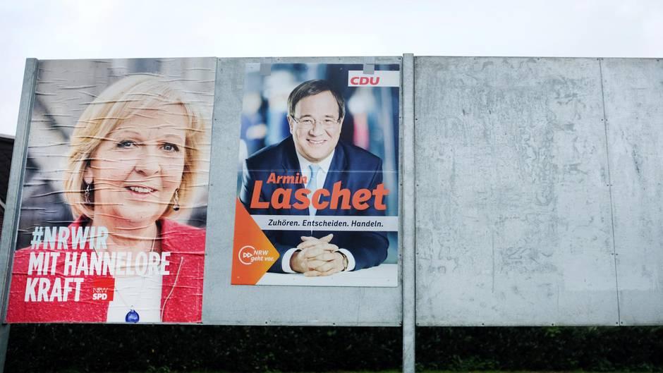Hannelore Kraft gegen Armin Laschet: Am kommenden Sonntag wird in Nordrhein-Westfalen ein neuer Landtag gewählt