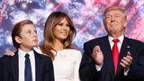 US-Präsident Donald Trump mit Ehefrau Melania und Sohn Barron