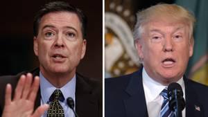 FBI-Direktor James Comey (l.) wurde von US-Präsident Donald Trump gefeuert
