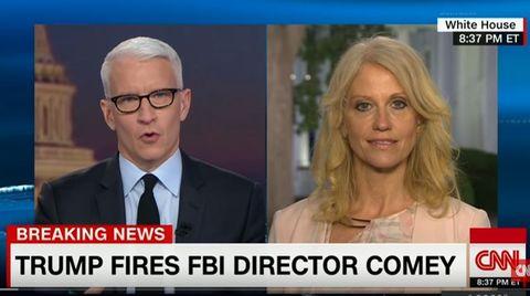 Entlassung von FBI-Chef: Kellyanne Conways verzweifelter Versuch, Trumps Wahrheit unters Volk zu bringen