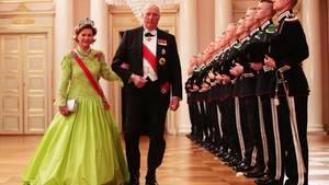 Königspaar in Norwegen