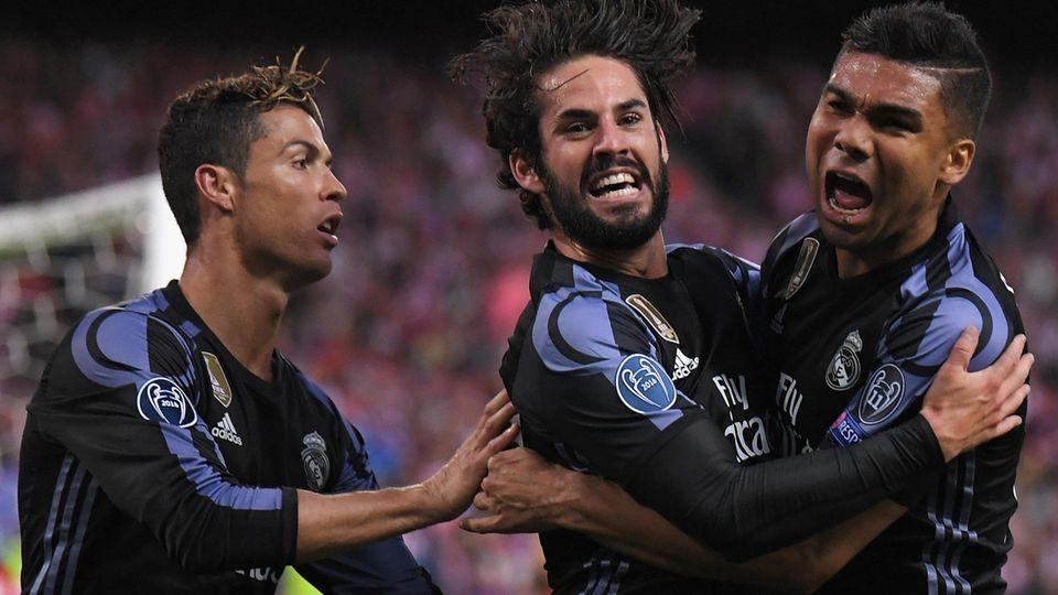 Real Madrid im Champions-League-Finale: Ronaldo, Isco und Casimero jubeln