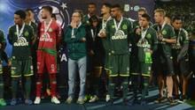 Spieler des Fußballteams Chapecoense nach dem verpassten Titelgewinn in Medellín