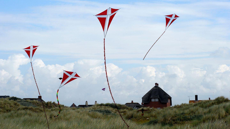 Drachensteigen im Nordseewind aufFanø
