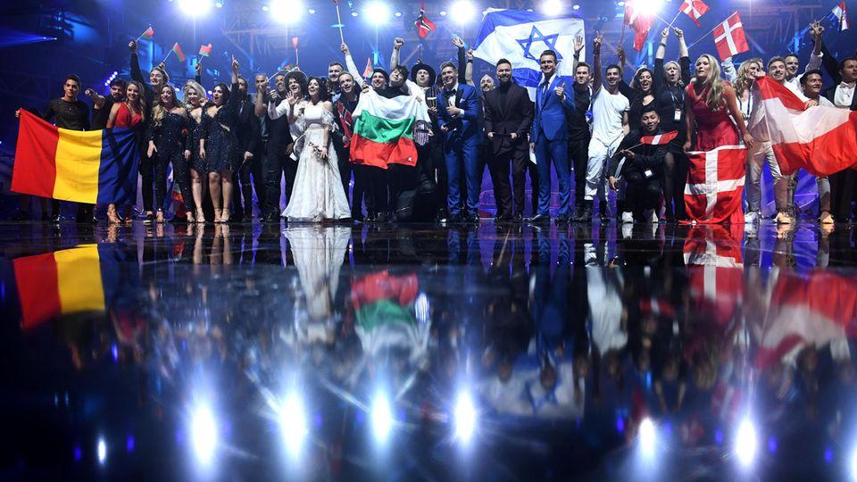 Sie haben nach dem zweiten Halbfinale ihr Ziel erreicht: Die Finalisten des ESC in Kiew.