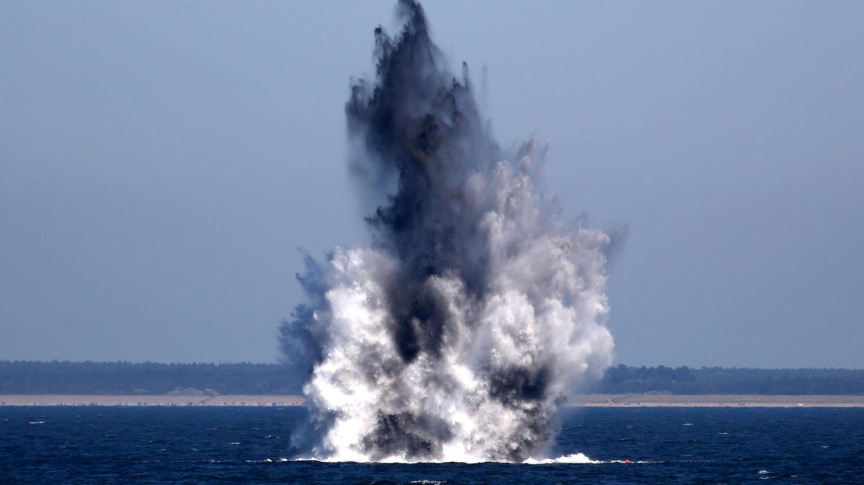 Zwei Wasserbomben aus dem Zweiten Weltkrieg werden in der Ostsee gesprengt