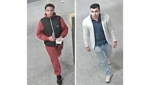 Mit Bildern aus den U-Bahn-Überwachungskameras fahndet die Polizei in Berlin nach zwei der drei Verdächtigen