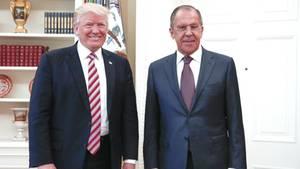 US-Präsident Donald Trump und Russlands Außenminister Sergej Lawrow bei ihrem Treffen im Weißen Haus
