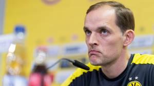 BVB-Coach Thomas Tuchel während einer Pressekonferenz