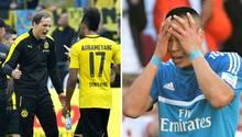 Für den BVB (l.) geht es um die direkte Qualifikation für die Champions League, für Bobby Wood (r.) und den HSV um den Klassenerhalt