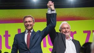 FDP-Chef Christian Lindner (l.) und sein Vize Wolfgang Kubicki