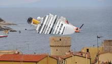 Die Costa Concordia sank im Januar 2012