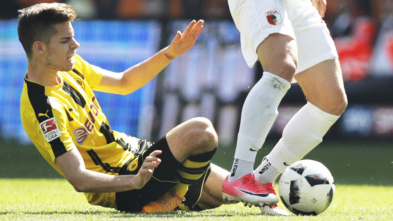 BVB-Profi Julian Weigl verletzte sich gegen Augsburg schwer am rechten Knöchel