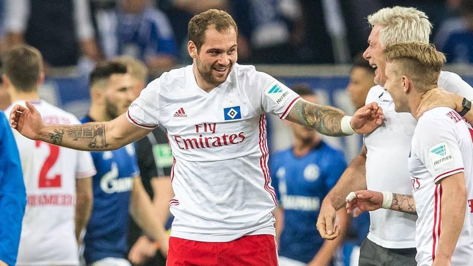 HSV-Stürmer Pierre-Michel Lasogga war der Last-Minute-Held auf Schalke