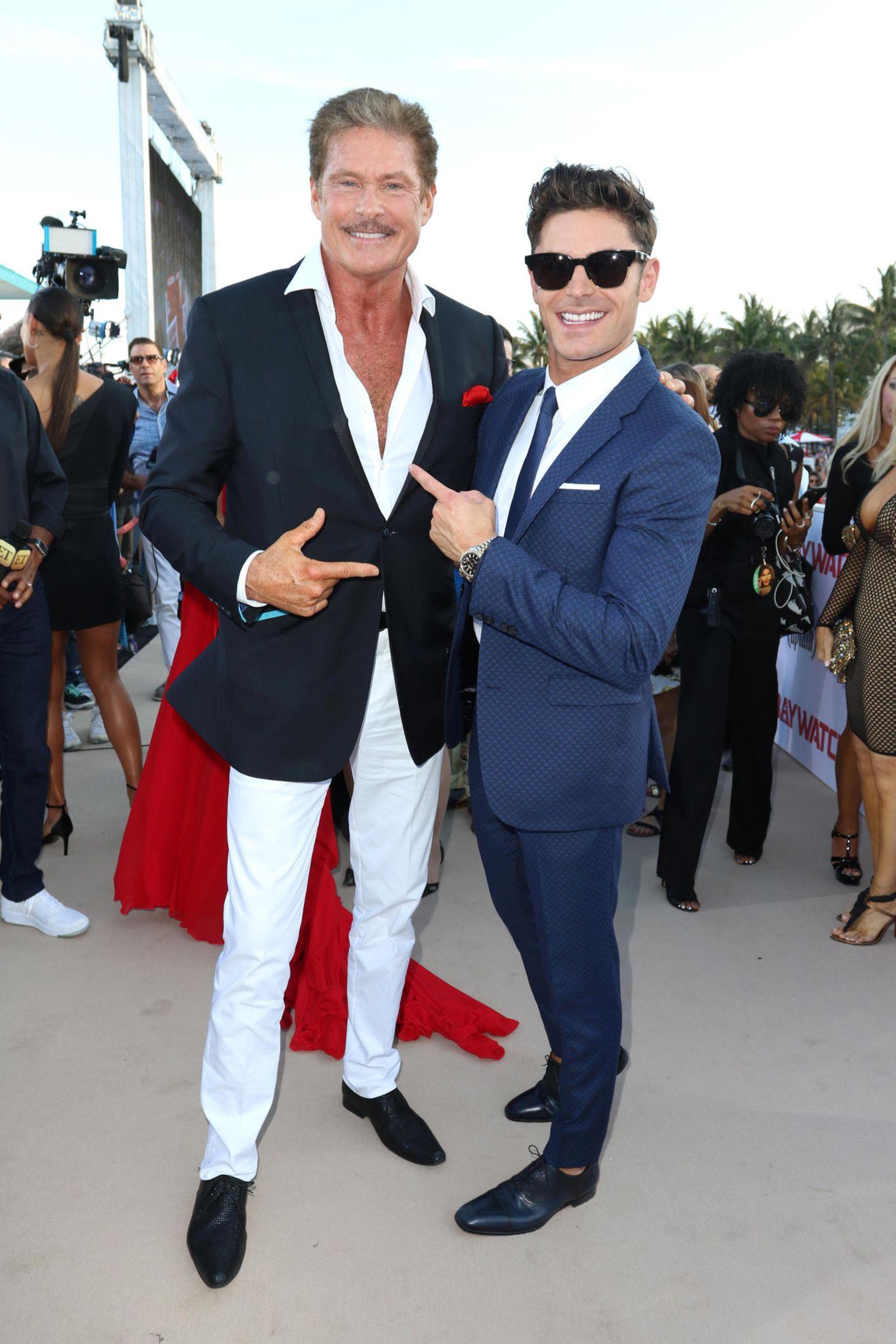 David Hasselhoff und Zac Efron