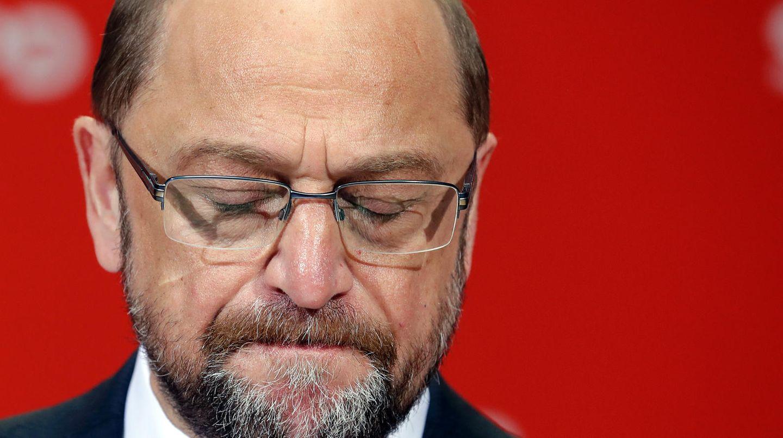 Martin Schulz, zerknirscht