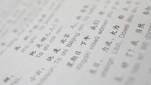 Auszug aus einem Chinesisch-Lehrbuch um die Chinesische Sprache zu erlernen
