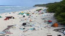 Müllkippe Henderson Island:Forscher fanden an den Stränden der kleinen, unbewohnten Insel rund 38 Millionen Kunststoffteile.