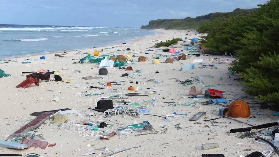 Umweltverschmutzung - 38 Millionen Plastikteile an Pazifikinsel angeschwemmt
