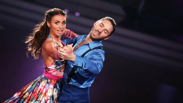"Ekaterina Leonova mit ihrem Partner Gil Ofarim bei ""Let's Dance"""