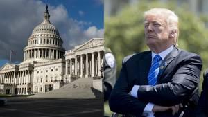 Donald Trump neben dem US-Senat