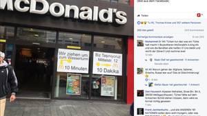 Ein Foto des Eingangs eines Mannheimer McDonald's